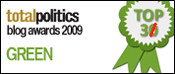 I came 3rd in Iain Dale's 2009 Green blogs