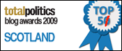 I came 5th in Iain Dale's 2009 Scottish blogs